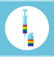 lgbt health concept vector image vector image