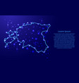 map estonia from the contours network blue vector image