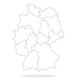 Map of Germany with regions vector image