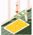 money diving isometric concept vector image vector image