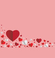 paper style heart shape background vector image vector image