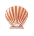 pearl seashell mother shell luxury sign vector image