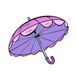 pink sun umbrella vector image