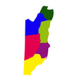 political map of belize vector image vector image
