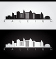 raleigh usa skyline and landmarks silhouette vector image