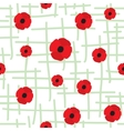 Red Poppy Seamless Pattern vector image vector image