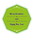 retro merry christmas sign vector image vector image