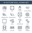 roll icons vector image vector image