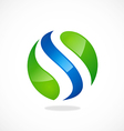 S round wave logo vector image vector image