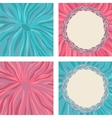 Set of colorful frame with tea leaves vector image vector image
