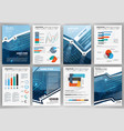 set of infographic presentation templates busines vector image vector image