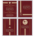 Set of restaurant menu design cover template in vector image