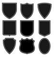 Set shields coat arms set signs