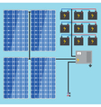 solar battery energy panel home power eco sun en vector image