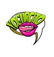 spanish language comic text sound pop art vector image vector image