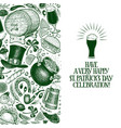 st patricks day design template hand vector image