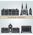 strasbourg landmarks and monuments vector image vector image