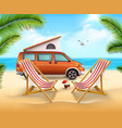 summer camping poster vector image vector image