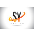 sy s y letter logo with fire flames design and vector image vector image