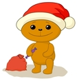 teddy bear santa vector image