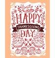 thanksgiving with roasted turkey vegetables vector image
