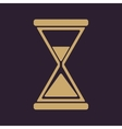 The hourglass icon Clock symbol Flat vector image vector image