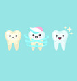 tooth whitening and cleaning stomatology concept vector image vector image