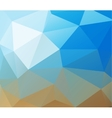 Triangle background Blue polygons vector image