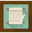 vintage jewish scrol flat vector image vector image
