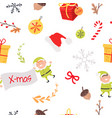 wallpaper design with elves acorns and branches vector image