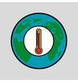 warming global environment concept icon vector image vector image
