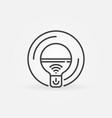 wi-fi smart bulb outline icon smart bulb vector image vector image