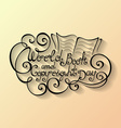 World Book and Copyright Day Inscription vector image