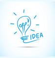 bulb light idea concept background design vector image