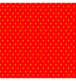 Strawberry seamless pattern with seeds Fruit vector image