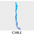 chile map in south america continent design vector image