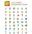 abstract logo set collection modern geometric vector image vector image