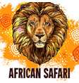 african lion poster safari hunting poster vector image