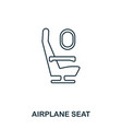 airplane seat icon outline thin line style from vector image