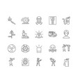 alarms ystem line icons signs set vector image vector image