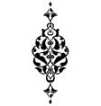 Antique ottoman turkish design seven vector image vector image
