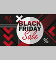 black friday sale advertisement vector image vector image