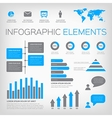 blue and gray infographic elements vector image vector image