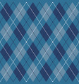 blue black and white seamless argyle pattern vector image