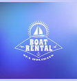 boat rental summer badge typographic retro style
