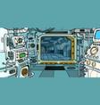 cabin spacecraft vector image