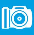 camera icon white vector image vector image