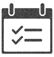 Check Items Calendar Day Grainy Texture Icon vector image vector image