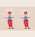 circus show funny clown vector image vector image