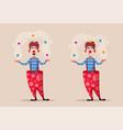 circus show funny clown vector image